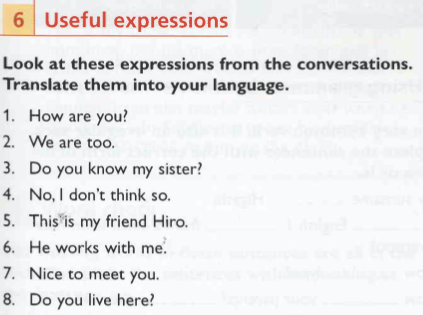 expressions for beginners of English