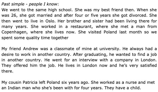 English language student stories