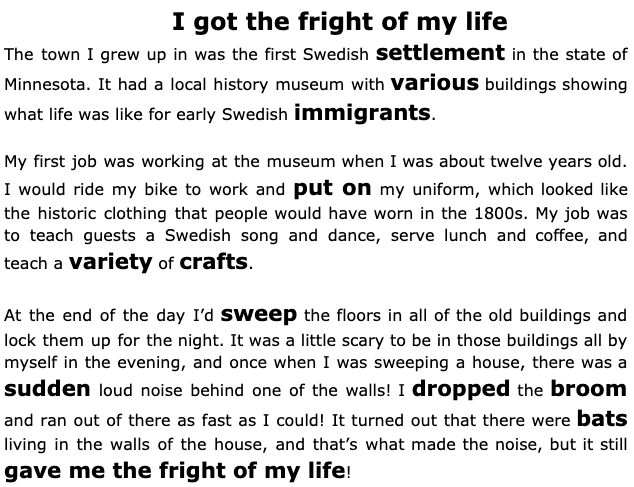 real-life story in English
